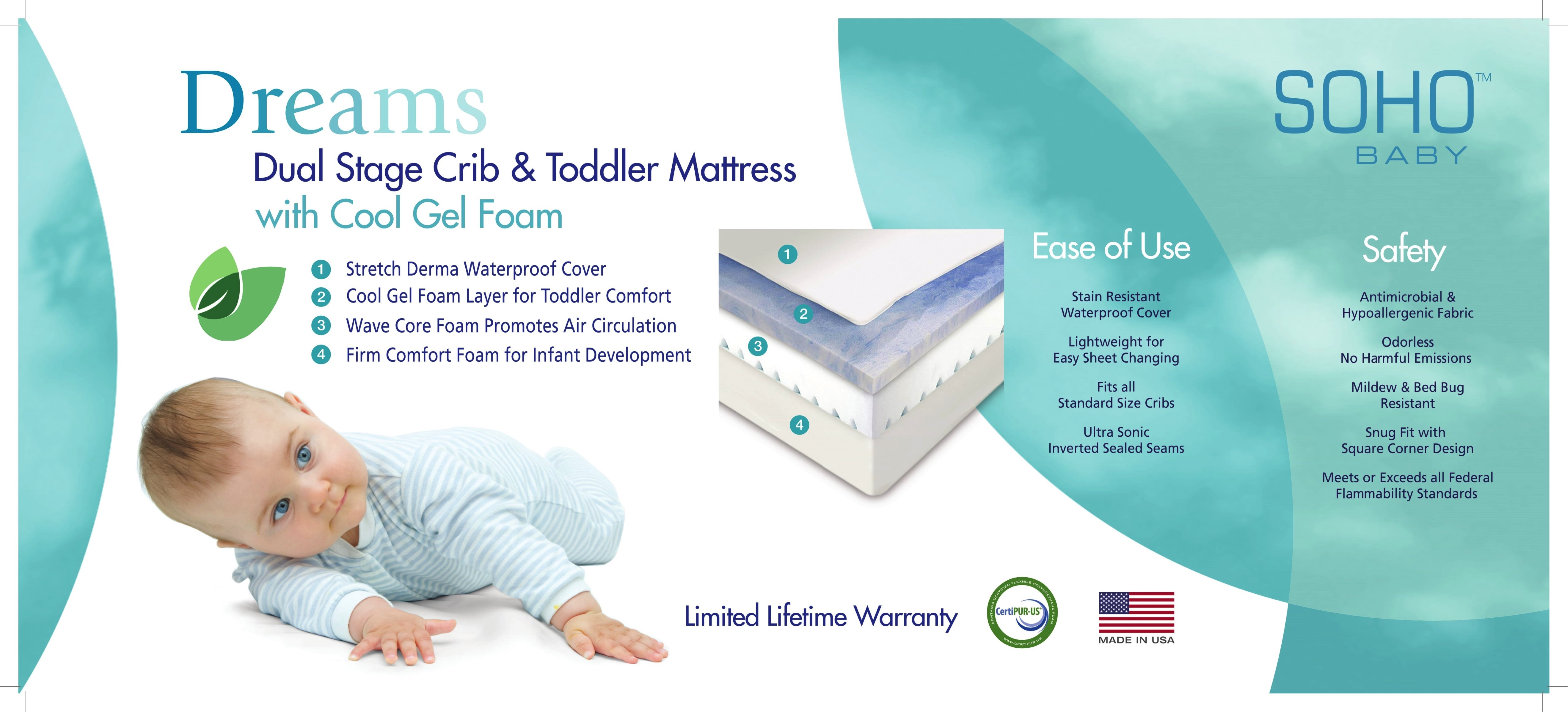 bed in products crib grey cribs delta angled children full angle mattress toddler emerson size measurements