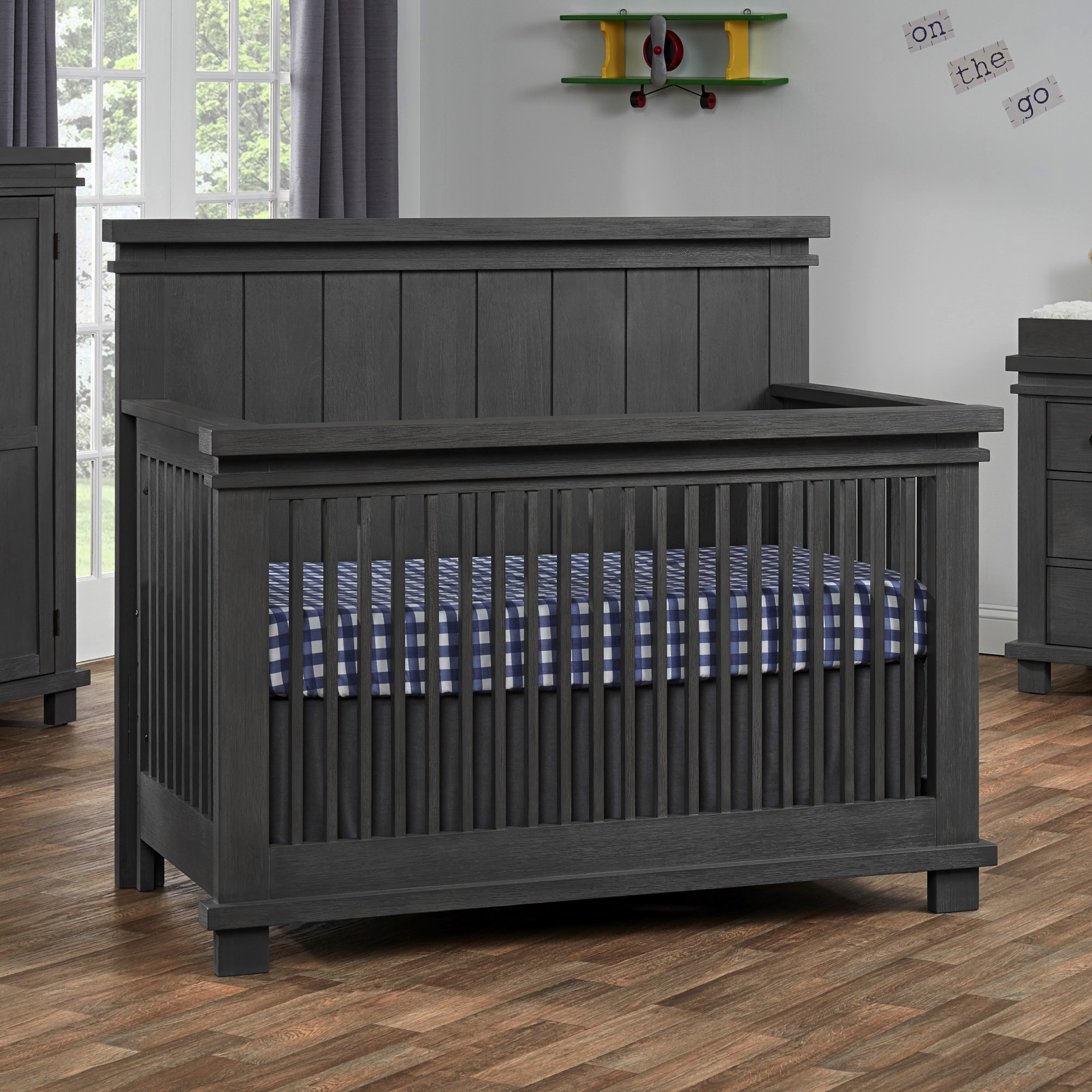 4 In 1 Convertible Crib Hampton Canyon Gray Soho Baby