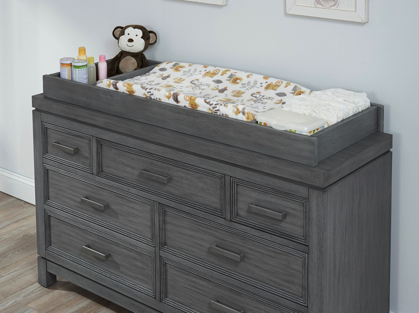 Changing Topper Manchester Rustic Gray Soho Baby