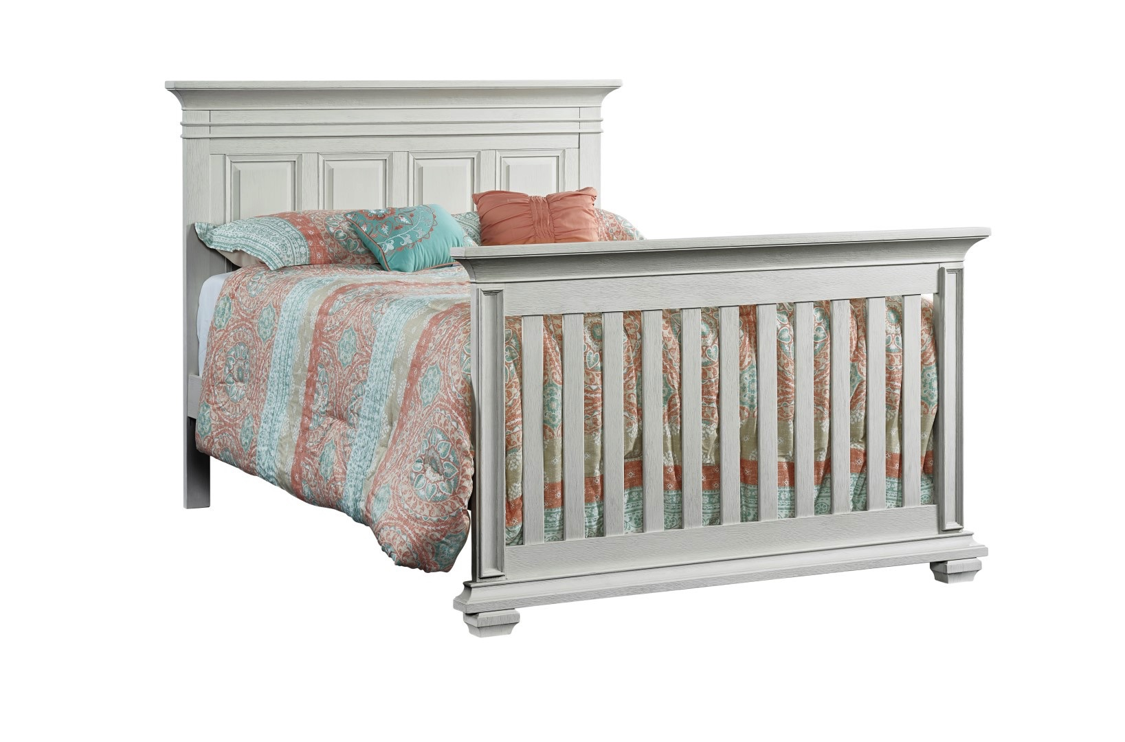 4 In 1 Convertible Crib New Haven Oyster White Soho Baby
