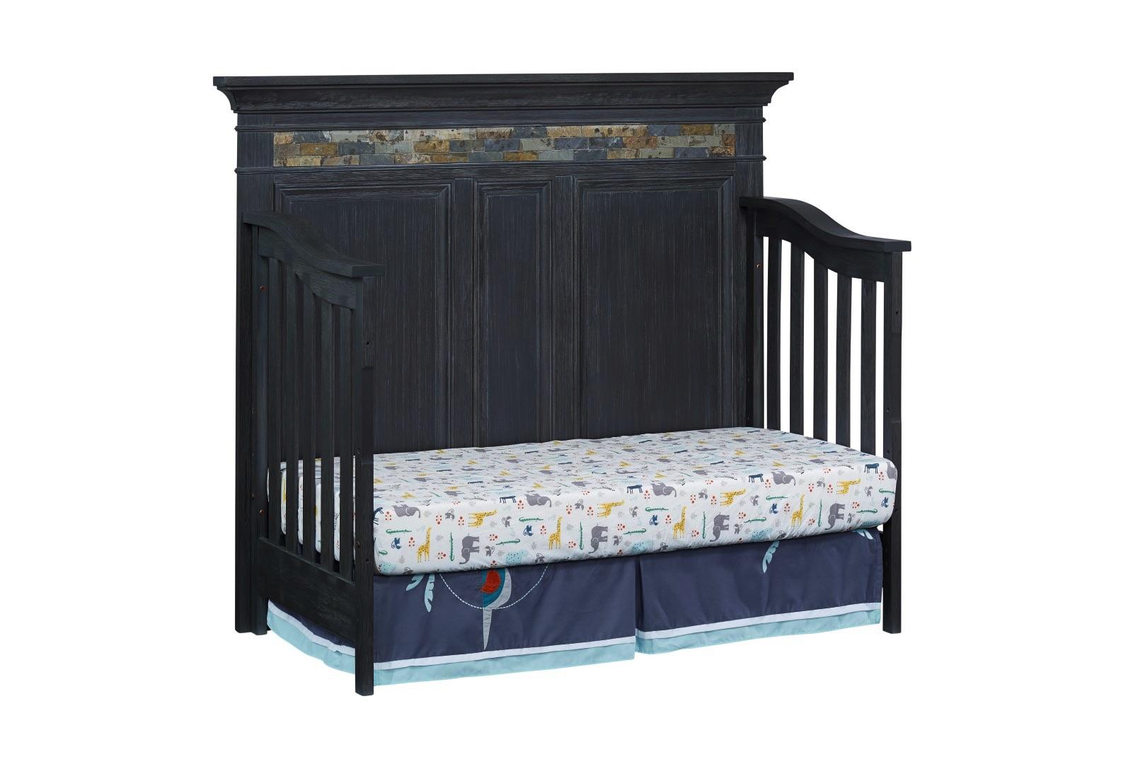 4 in 1 Convertible Crib - Stone Hill - Smoke Gray | Soho Baby